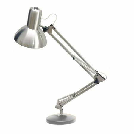 Dainolite LED Table Lamp, Satin Chrome Finish