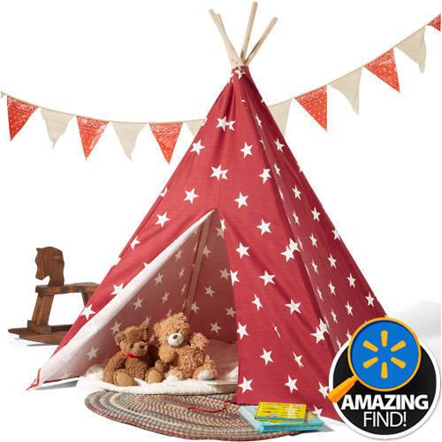 Children's Teepee Tent, Mulitple Colors