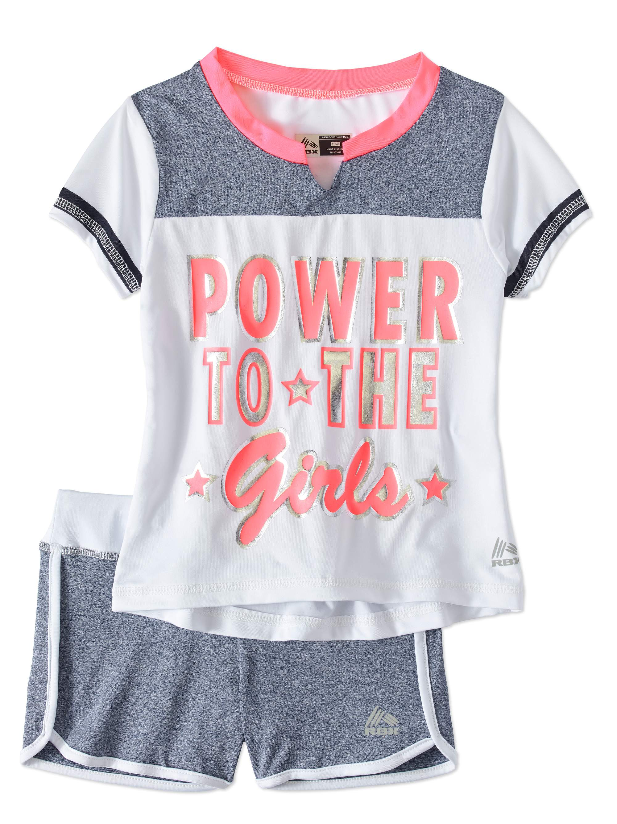 Little Girls' 4-6X Varsity Graphic Tee and Knit Short 2-Piece Active Set