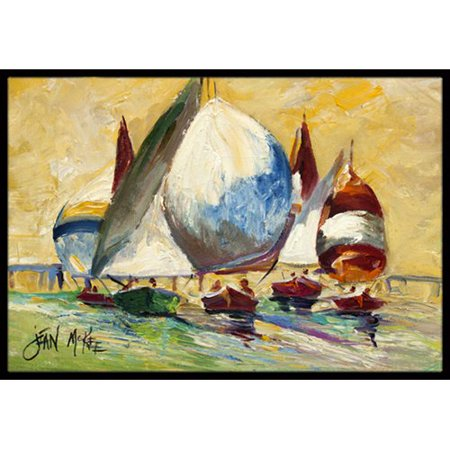 Caroline's Treasures Bimini Sails Sailboat Doormat