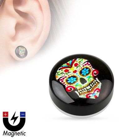 Sugar Skull Earrings (Earrings Rings Magnetic Sugar Skull Pride  Sold as a)