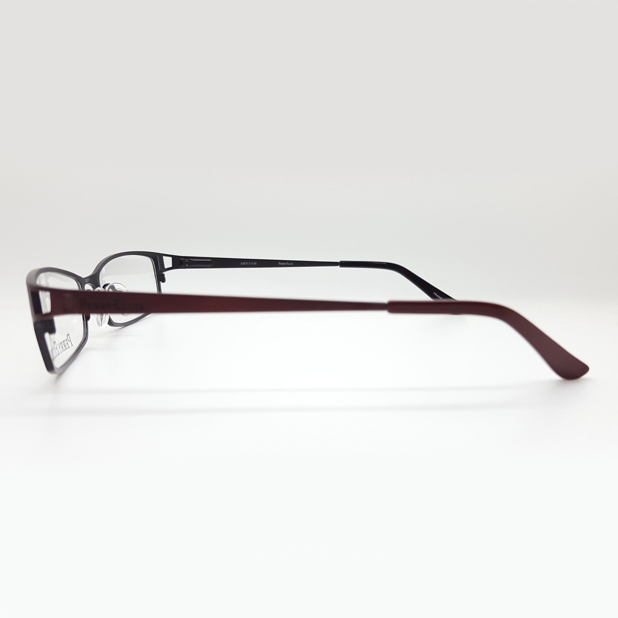 Perry Ellis Men\'s PE233 Eyeglasses Prescription Frames, (Brwn/Blk ...
