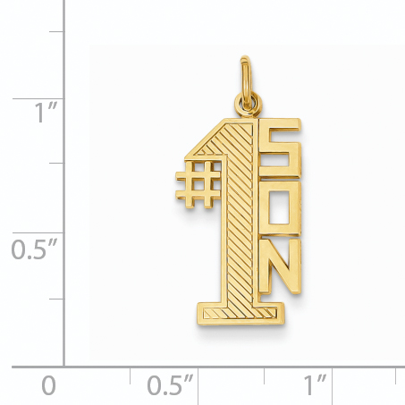 14K Yellow Gold #1 Son Charm - image 2 of 3
