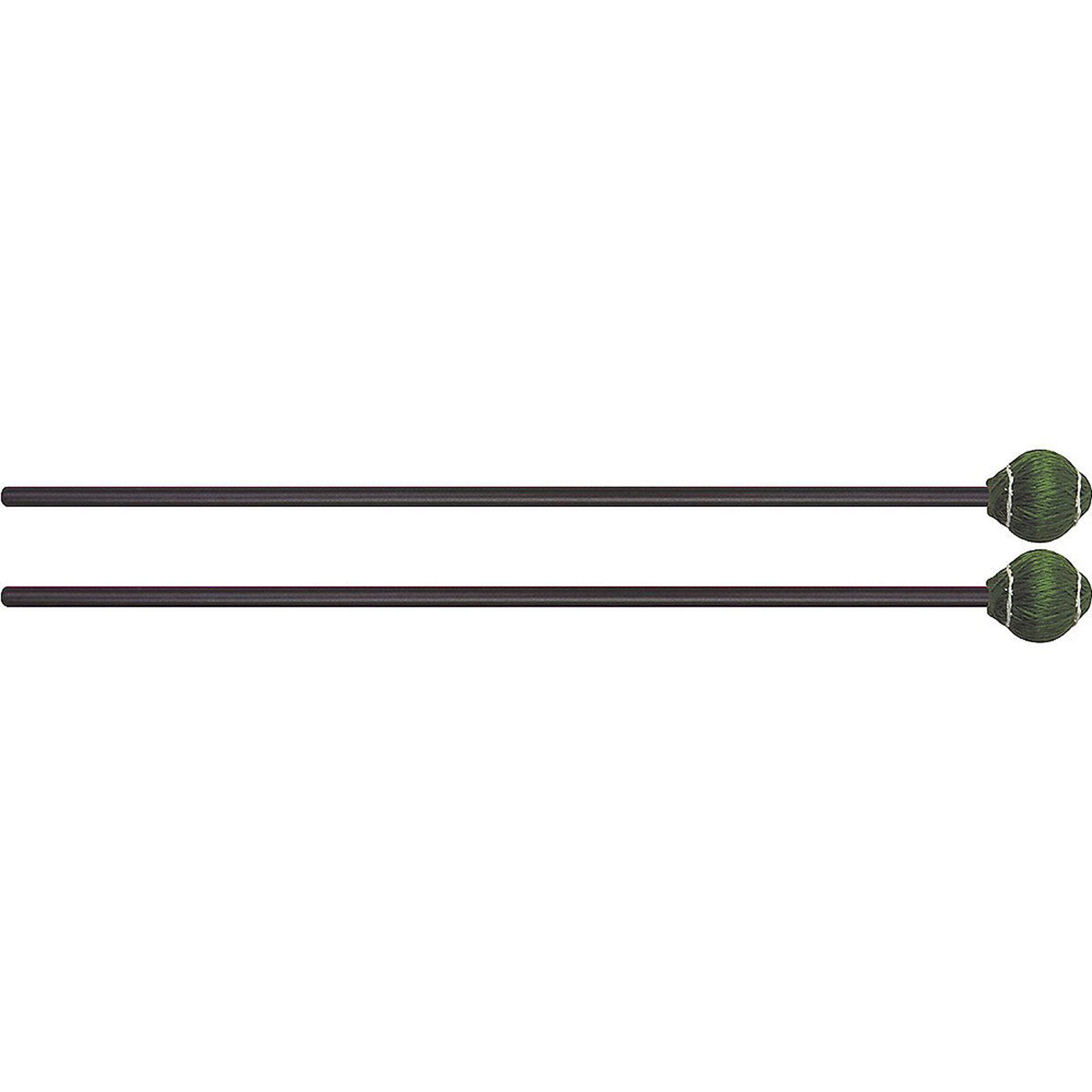 Mike Balter 22BB Pro Vibe Series Medium Hard Green Vibraphone Mallets w  Black Birch... by Mike Balter