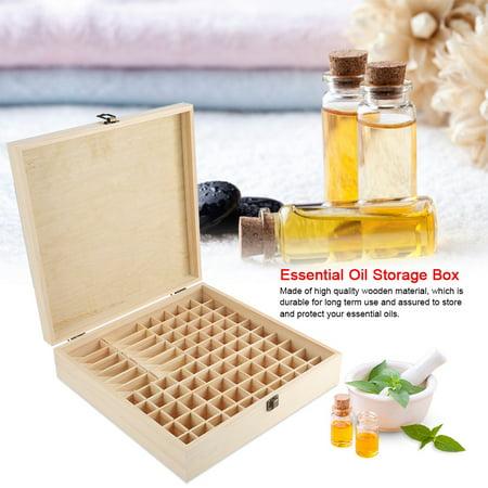 Tbest 87 Slots Wooden Large Essential Oil Storage Holder Box Case Container Organizer, Essential Oil Storage Case