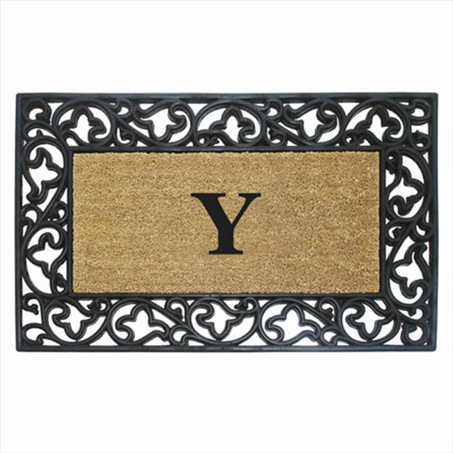 Nedia Home 18020Z Acanthus Border 24 x 57 In. Rubber-Coir Doormat Monogrammed with Z - image 1 of 1