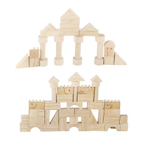 162 Pcs Building Blocks Pine Wood Kids Children Educational Assembled Cars DIY - image 11 de 12