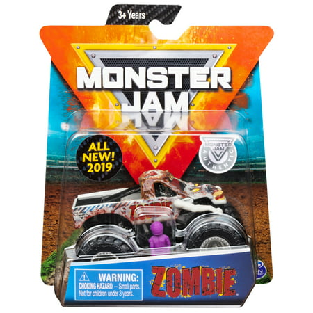 Monster Jam, Official Zombie Monster Truck, Die-Cast Vehicle, Crazy Creatures Series, 1:64 (Best Rv And Truck Supply)