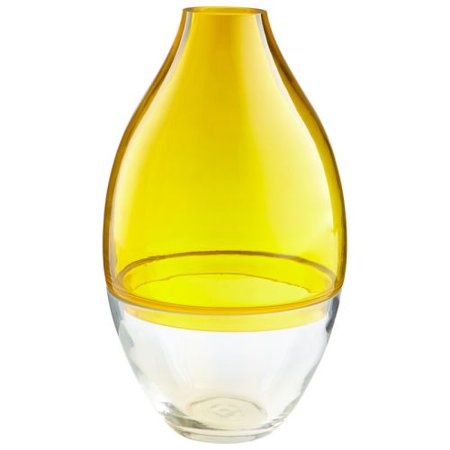 Cyan Design Small Mellow Yellow Vase Mellow Yellow 12.5 Inch Tall Glass Vase