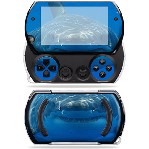 Mightyskins Protective Vinyl Skin Decal Cover for Sony PSP Go System wrap sticker skins Shark