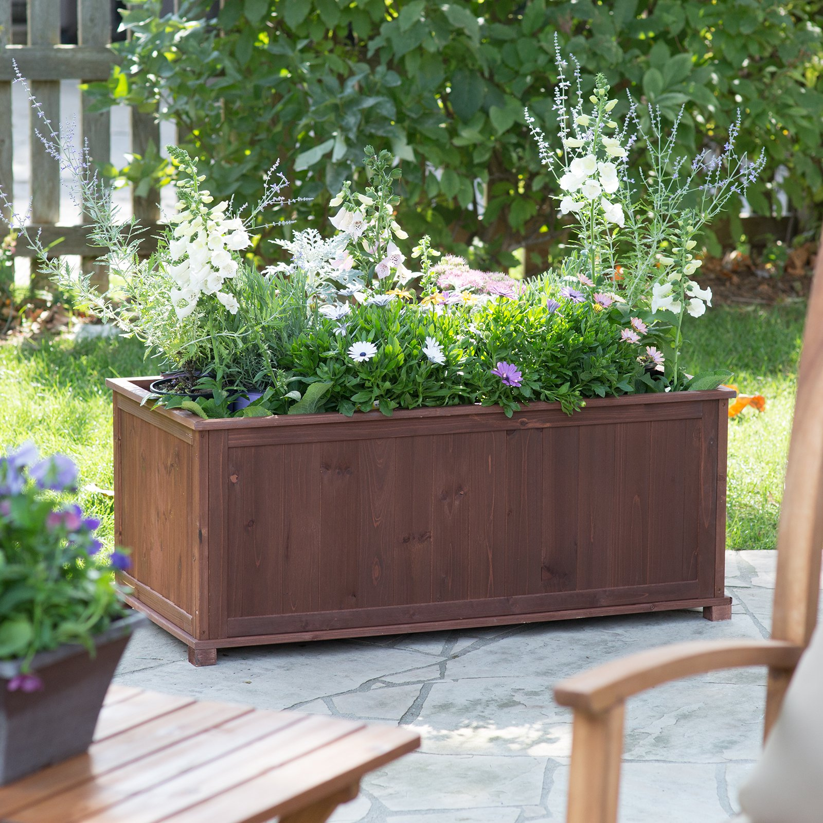 Coral Coast Aster Wood Patio Raised Planter Box by Merry Products