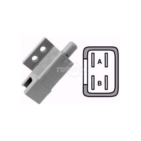 Normally Closed Switch (Plunger Interlock Switch.  Double Pole, Normally Open - Normally)