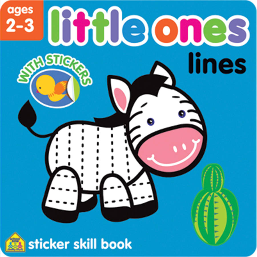 Little Ones Sticker Skill Book, Lines