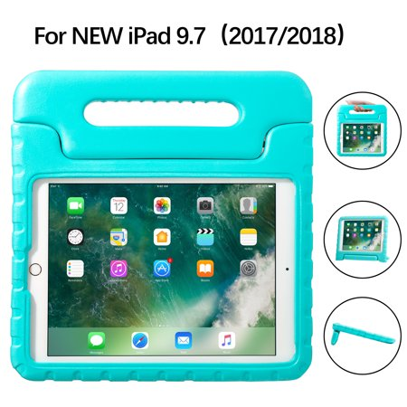 iPad 9.7 Case for Kids Shockproof Bumper Protective Cover With Handle Stand for New Apple iPad 9.7 Inch  2018 6th Gen/2017 5th Gen - - Gen 1 Bumper Cover