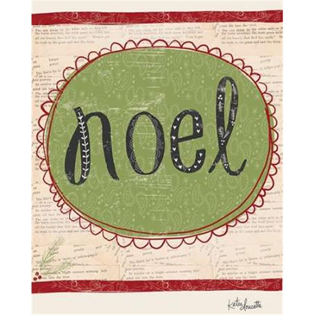 "Tangletown Art, 32 x 26 ""Noel "" by Katie Doucette, Gallery Wrap Canvas Art print"