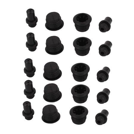 20Pcs Black Plastic Post Socket Type Speaker Grill Fixing Pegs
