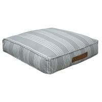 Better Homes & Gardens Yarn Dyed Floor Pillow, Gray & White