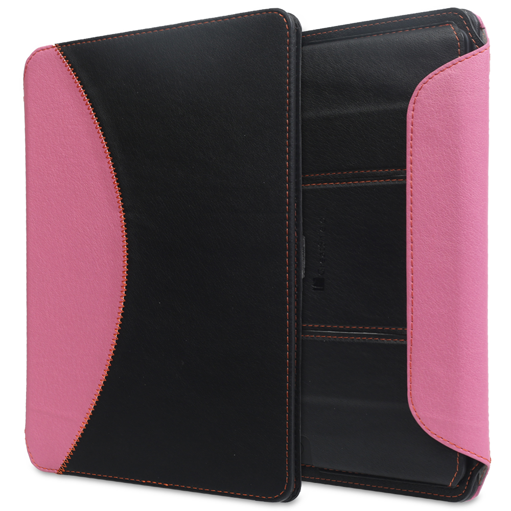 "GreatShield LEAN Ultra Thin Bluetooth Keyboard Leather Case with Sleep/Wake Function for Kindle Fire HDX 8.9"" (Pink)"