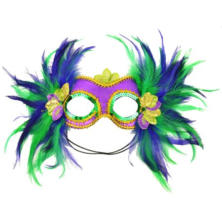Mardi Gras Feather Masks (7