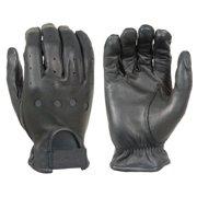 Damascus D22 Leather Driving Gloves Full-Finger Unlined, Small, Black