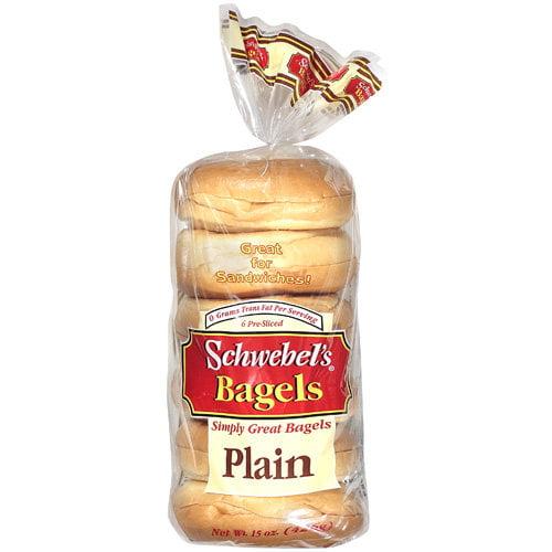 Schwebels Plain Bagels, 6 ct, 15 oz