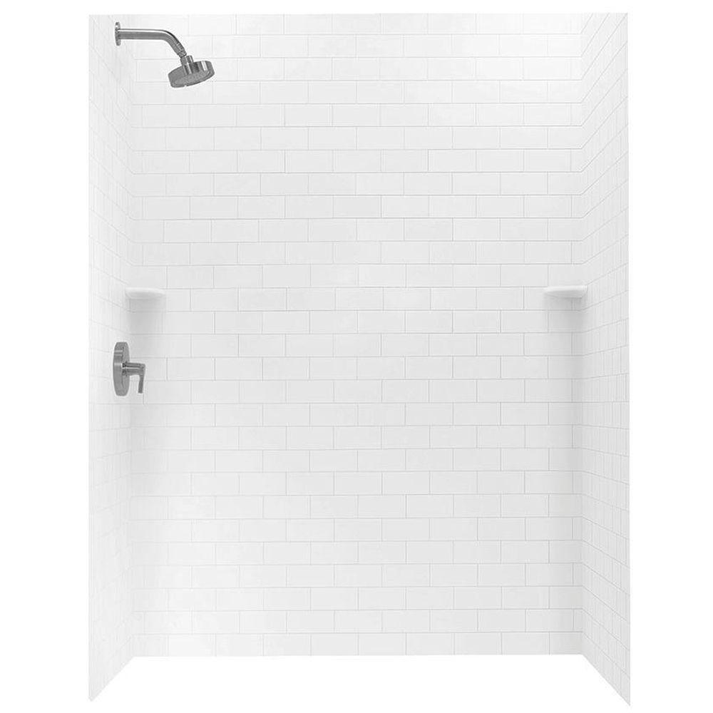 36 In X 62 In X 72 In 3 Piece Subway Tile Easy Up