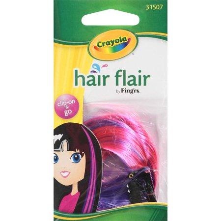 fing 39 rs crayola dark pink and purple 31507 hair flair 1 pk