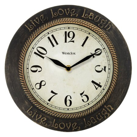 Westclox 32097 Clocks Live Love Laugh Inspirational 11 Wall Clock