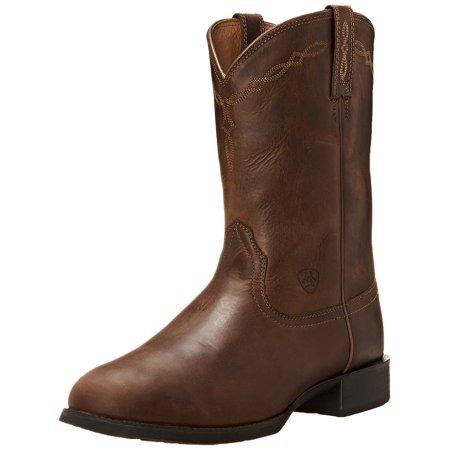 Ariat Mens Heritage Roper Western Cowboy Boot Distressed Brown 11.5 EE US