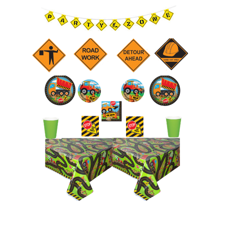 Construction Truck Party Deluxe Birthday Party Kit - Party Truck