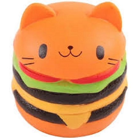 Hamburger Plush - ORANGE HAMBURGER CAT SQUISHY TOY SUPER SLOW RISING SQUEEZE SCENTED SQUISHIES