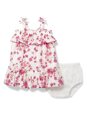 064c13699fff1 Product Image Baby Girls A-Line Floral Printed Ruffle Dress and Bloomer Set  (Baby and Toddler