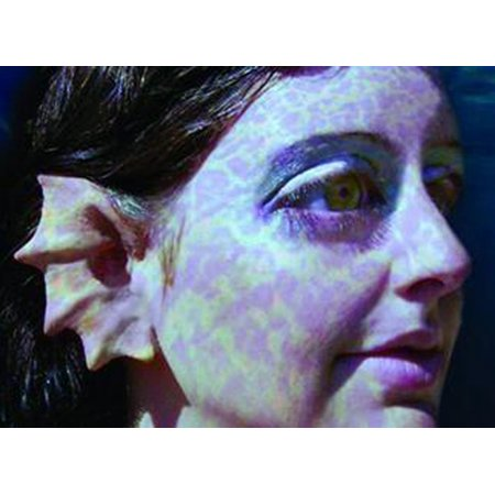 MERFOLK EARS latex mermaid cosplay siren prosthetic halloween costume makeup](White Halloween Makeup Homemade)