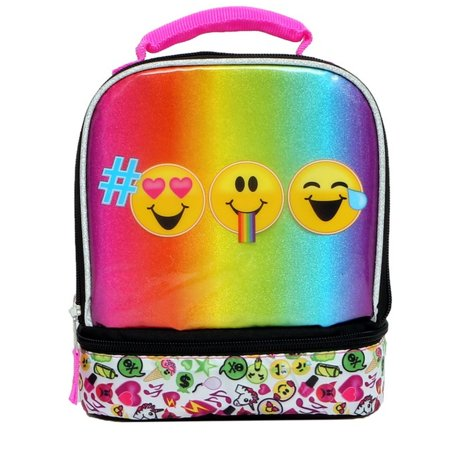 Emojination Emoji Smiley Face Dual Compartment Insulated Lunch Bag - Lunchbox