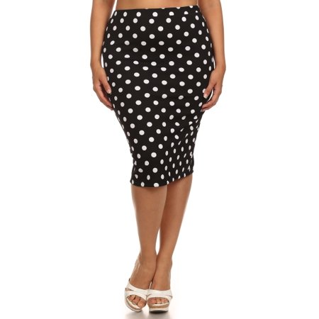 Plus size Women's polka dot print Skirt