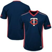 Men's Majestic Navy/Red Minnesota Twins Big & Tall Memorable Moments T-Shirt