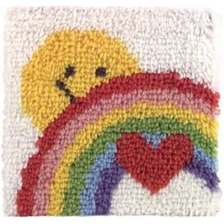 12 in. Square Latch Hook Kit, Sunshine Rainbow - Latch Hook Rug Kits