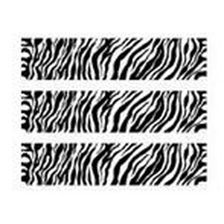 Zebra Print Edible Photo Image Cake Border - Zebra Print Decorations
