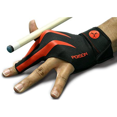 Poison Billiard Glove - S/M, For right handed shooters to fit the left bridge hand By Predator