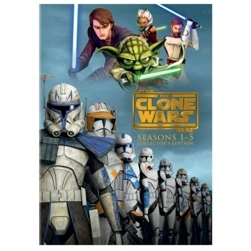 STAR WARS-CLONE WARS-SEASON 1-5 (DVD/19 DISC/5PK)