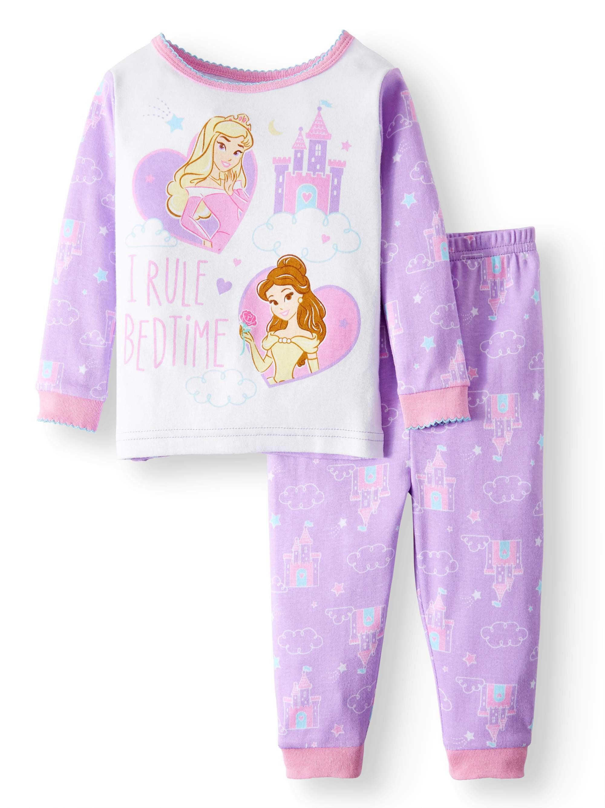 Disney Princess Cotton Tight Fit Pajamas, 2-piece Set (Baby Girls)