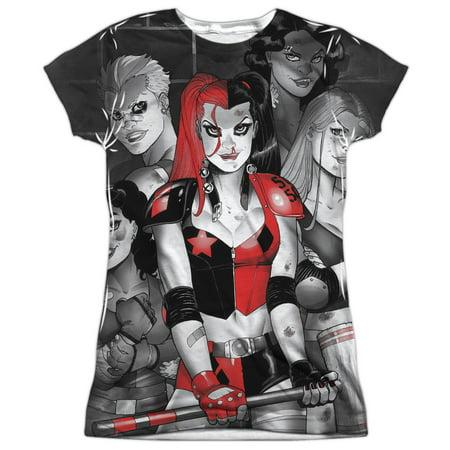 Batman Bad Girls Juniors Sublimation Shirt - Batman Girl Villains