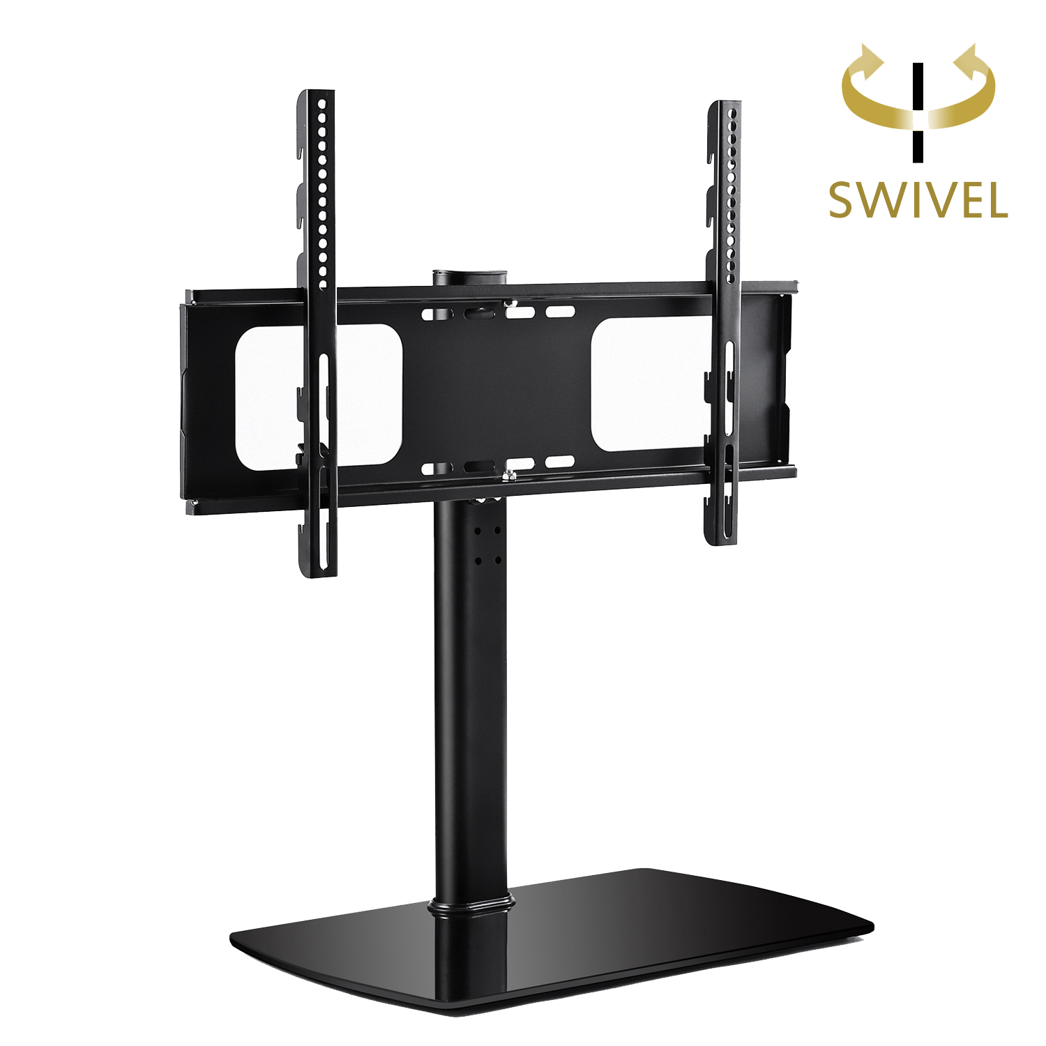 "RFIVER Universal Swivel Tabletop TV Stand with Mount for 32""-65"" LED,LCD and Plasma Flat Screen TVs with Height Adjustment UT2001"