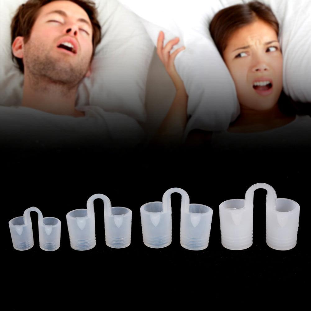 Yosoo 4Pcs/Box Relieve Snoring Stopper Guard Easy Sleeping Breath Aid Clip Nasal Dilator Device,Snoring Clip, Snoring Guard