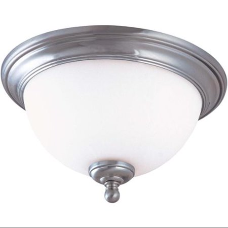 Nuvo 60/2566 Glenwood Ceiling Medallion Lighting 16in Brushed Nickel 2-light