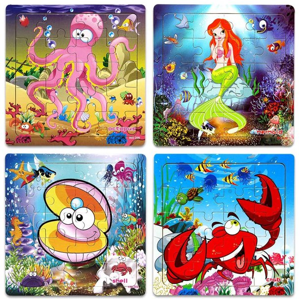 Wooden Jigsaw Puzzles for Kids Age 2-5 Year Old Animals ...