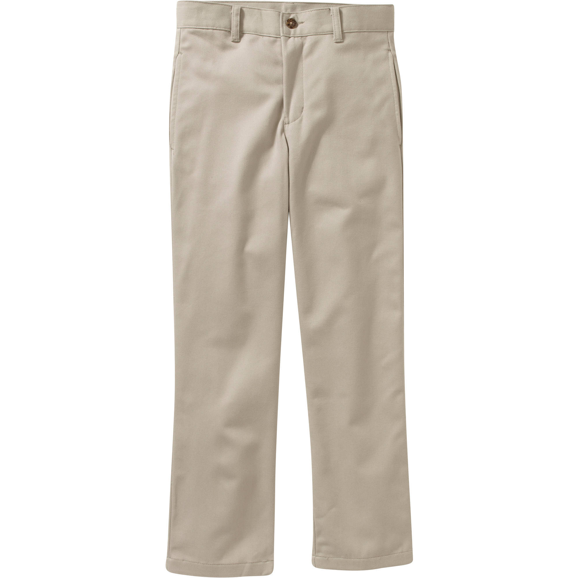George Boys Flat Front Twill Pant With Scotchguard - Walmart.com