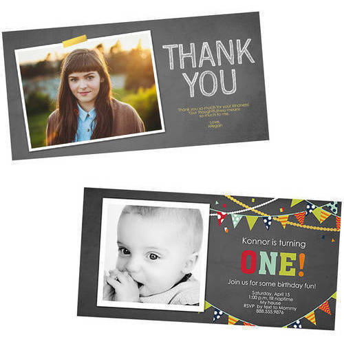 4x8 Rounded Stationery Cards w/ Return Recipient Envelope Printing
