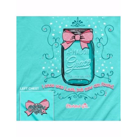Tee Shirt-Cherished Girl: A Mason Grace-Large-Turquoise