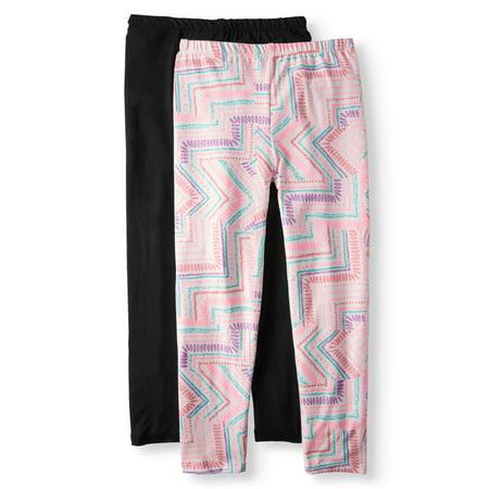Solid and Printed Leggings, 2-Pack (Little Girls & Big Girls) - Girls Sparkle Leggings